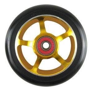 Image 3 - Rodas de patinete para scooter de 100mm, roda de cadeira de rodas de liga de alumínio, hub em 2 peças 88a, alta elasticidade, velocidade de precisão
