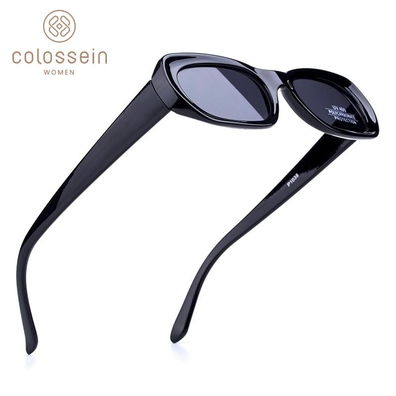 COLOSSEIN Sunglasses Men Fashion Vintage Black Brown Blue Flat Classic Sun Glasses For Women Square Light Eyewear UV400