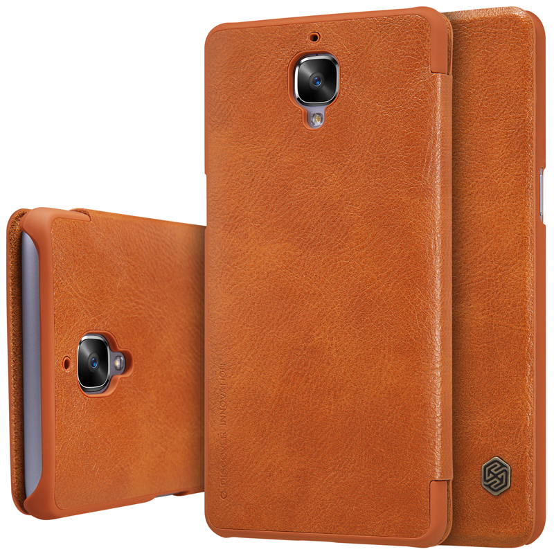 separation shoes dbdae fb06e US $9.58 39% OFF|Aliexpress.com : Buy For Oneplus 3 A3000 Nillkin case  smart wake up Qin Series wallet Leather cover For oneplus3 Case (5.5 inch)  ...