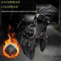SUOMY Guantes de Moto 100% para hombre Guantes impermeables de invierno a prueba de viento para Moto con pantalla táctil Gant Moto Guantes para montar en Moto