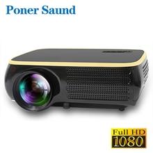 Poner saund M8S светодиодный проектор Родной Разрешение 1920×1080 P Full HD проектор для android-устройств 3D HDMI домашний кинотеатр Bluetooth