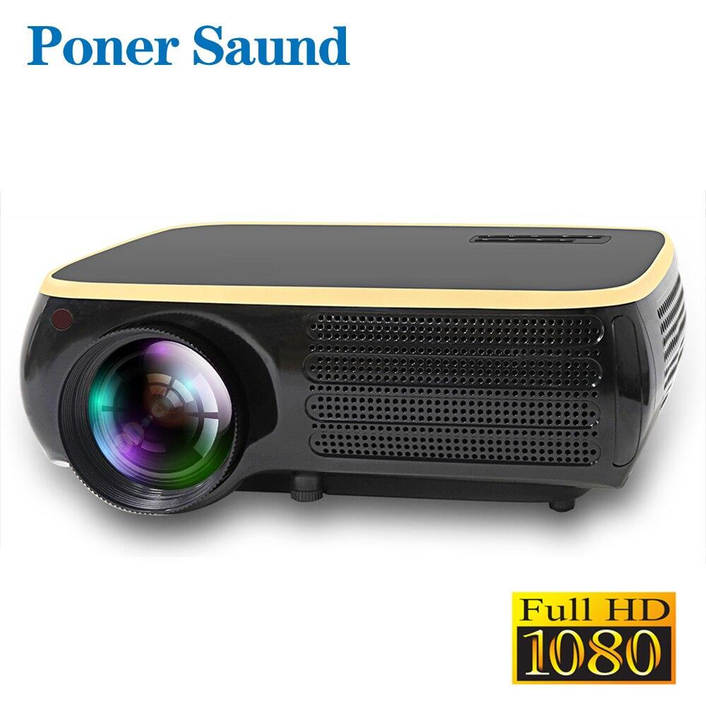 Poner Saund M8S Levou Projetor Resolução Nativa de 1920x1080 P Full HD Android Projetor 3D HDMI Home Theater Proyector bluetooth