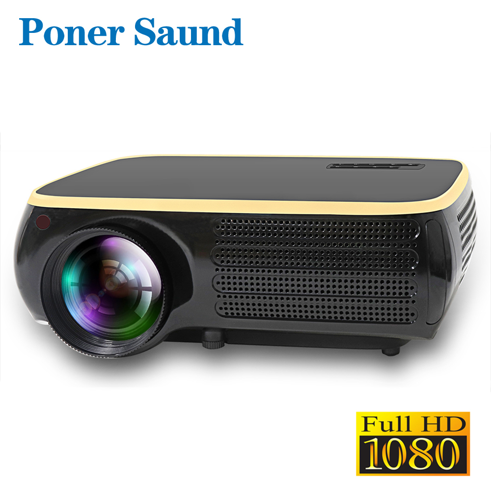 Poner Saund M8S projecteur LED résolution Native 1920x1080 P Full HD Android projecteur 3D HDMI Home cinéma Proyector Bluetooth