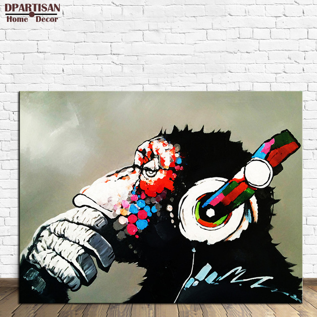 DPARTISAN Creative Arts Peinture Murale Du0027impression Sur Toile Animal  Portrait Peinture à Lu0027