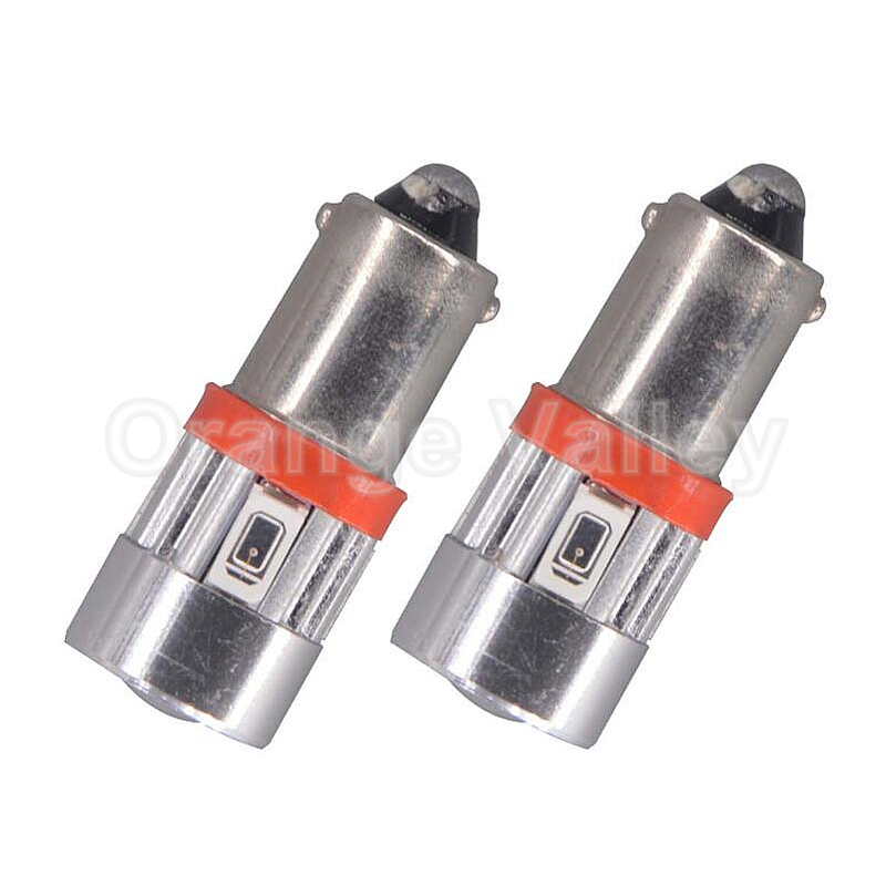 2pcs BA9S T11 H6W 6 LED 5630 SMD Car Interior Lights Reading Dome Lamp Map lighting Auto Bulbs DC 12V Lens