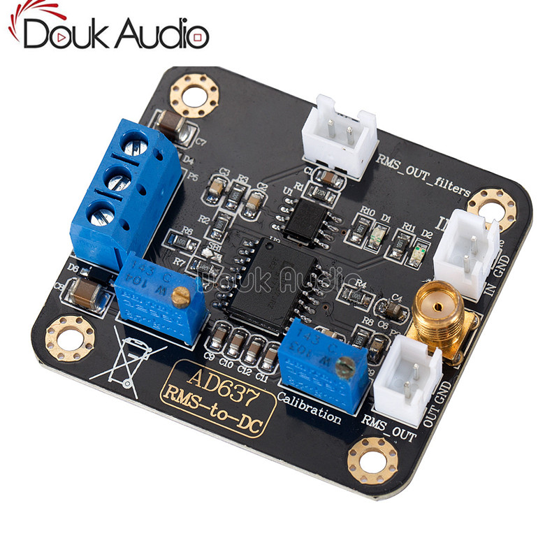 AD637 RMS To DC Converter Board Signal / Data / Peak Voltage Detection Module