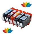 5 Совместимость canon 520x521 чернильный картридж для Canon PIXMA IP3600 IP4600 IP4700 MP540 MP550 MP560 MP640 MP620