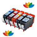5 canon 520x521 cartucho de tinta compatível para canon pixma ip3600 ip4600 ip4700 mp640 mp560 mp620 mp540 mp550