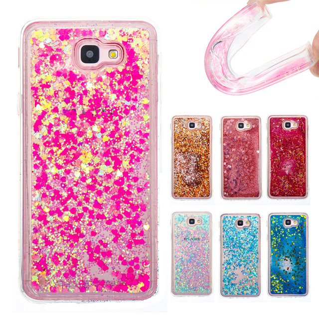 sale retailer 8765f 67994 US $3.71 7% OFF|Glitter Bling Quicksand Water Sand Soft TPU Protecive Back  Case Cover for Samsung Galaxy J7 Prime Liquid Case Capa Coque Fundas-in ...