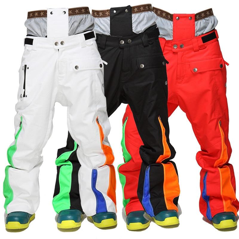 2018 Winte Da Sci Maschile Pantaloni Addensare Warm Snowboard Pantaloni Da Sci Pantaloni con Cintura Pantaloni di Sport All'aria Aperta Degli Uomini Impermeabili Pantaloni Da Sci