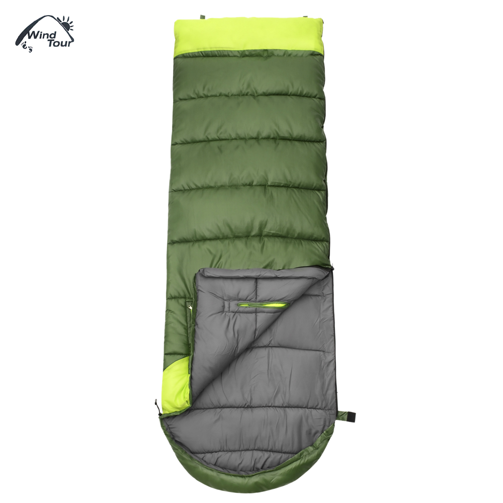 Sleeping Bag,WIND TOUR Lightweight Sleeping Bags for Adults Warm Mummy Hand Unbound Thickening 3-4 Season and Indoor Using with Waterproof Compression Sack for Backpacking Hiking Camping