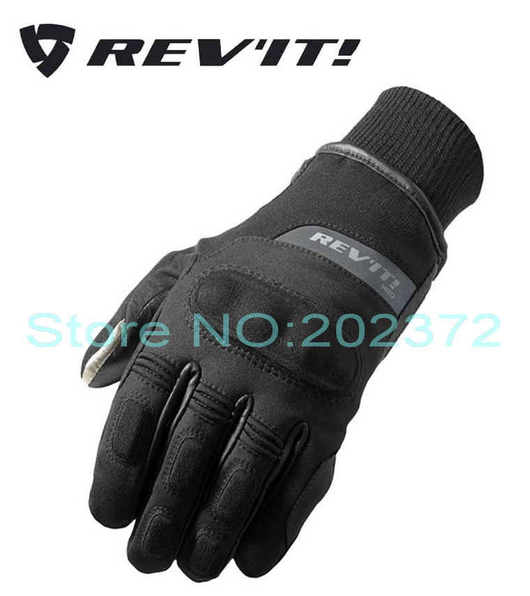 ФОТО 2016 New Autumn winter REV'IT! CARVER H2O Motorcycle gloves Revit motorbike gloves made of leather textile waterproof windproof