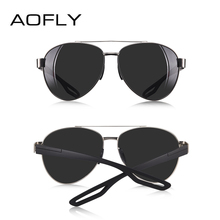 AOFLY Men Vintage Metal Polarized Sunglasses Classic Brand Pilot Sun glasses Male TAC Lens Driving Shades For Men/Women AF8193