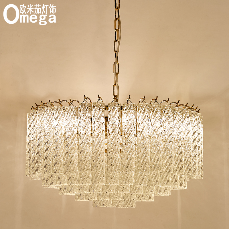 Postmodern Jane européen fileté verre cristal tube lustre salon salle à manger modèle chambre luxe créatif designer lampe