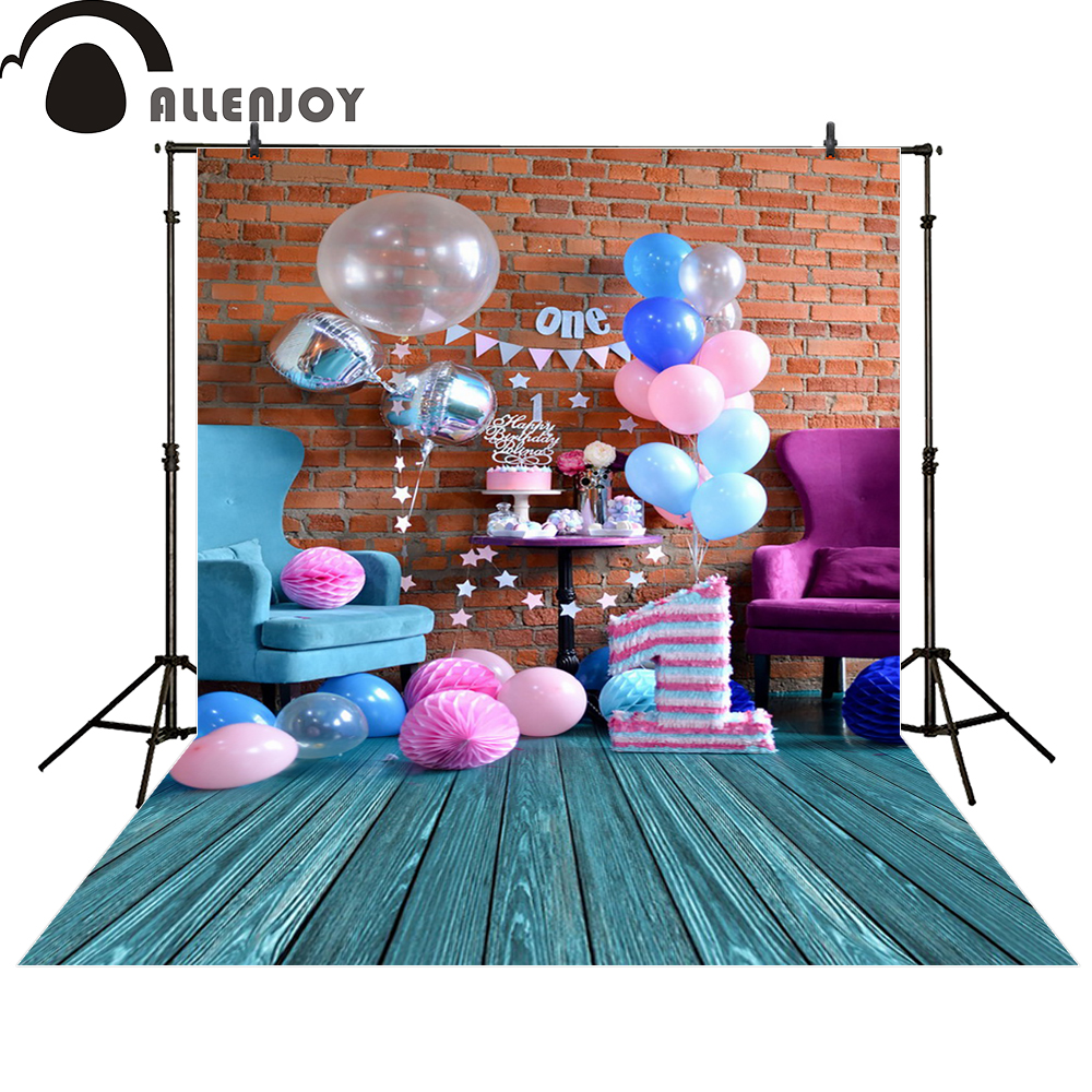 Allenjoy photography background celebrate the birthday of one year old baby balloon photo studio props photobooth allenjoy baby background photo studio 6 5x10ft 200x300cm cinderella photography background leading to the castle pano de fundo