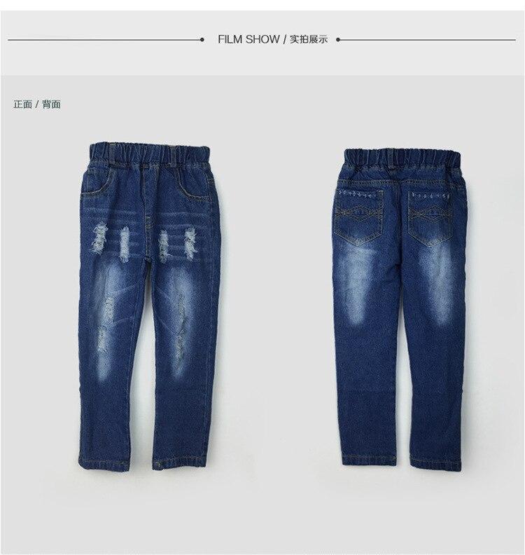 Spodnie MXTOPPY dla dzieci z pękniętymi otworami dla chłopców - Ubrania dziecięce - Zdjęcie 2