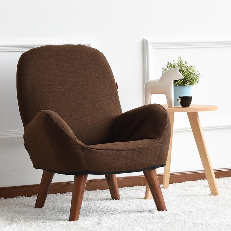 Japonais Bas Canapé Fauteuil Tissu Du0027ameublement Bois Jambes Salon Meubles  Moderne Relax Décoratif Accent Bras Chaise Design Dans Chaises Salle De  Séjour De ...