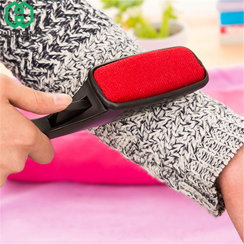 WHISM Manual Clothes Dry Cleaning Brushes Static Pet Hair Lint Remover Clothing Dust Rotating Wool Magic Brush Cleaning Tools