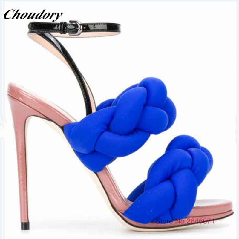 Fashion Rome Style High Heels Women's Sandals Open Toe Sexy Summer Rihanna Party Shoes Buckle Straps Studded Gladiator Sandals brand new stiletto high heels sandals gladiator women sexy platform rome style shoes summer ladies open toe buckle pumps fashion