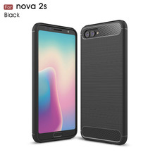 Huawei Nova 2S Case Silicon for 2 Plus Cover Soft Carbon Fiber Brushed Hoesje Fundas Coque Etui