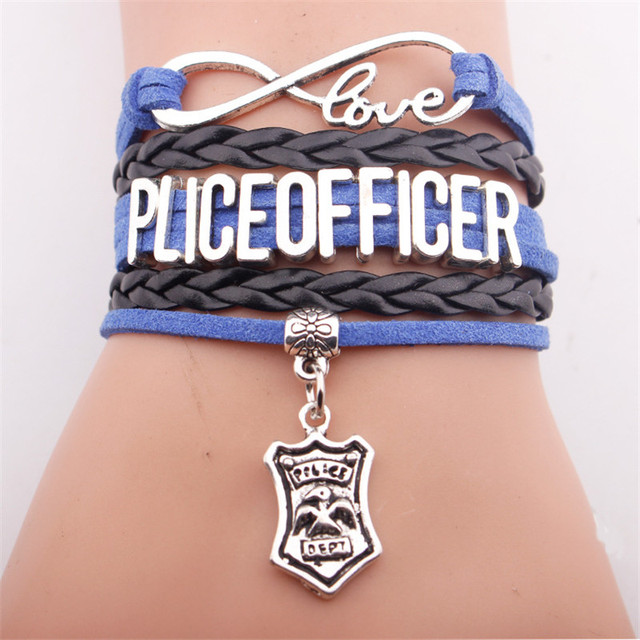 Gvusmil Infinity Love Police Officer Bracelet Charm Bangles Men Jewelry Drop Shipping