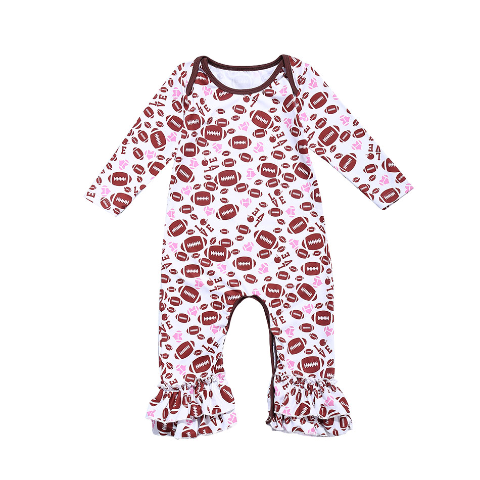 Bodysuits & One-pieces Newborn Girls Plaid Printed Long Sleeve Jumpsuits Baby Autumn Winter Ruffle Leg Romper Clothes Girls' Baby Clothing