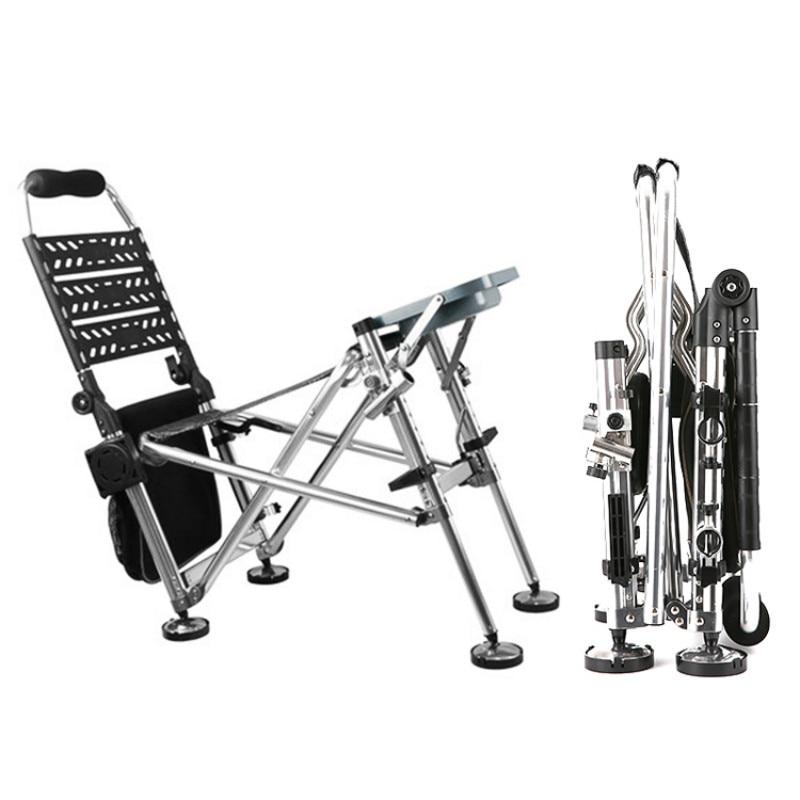 Chaise de poisson en alliage d'aluminium hauteur Kamp Sandalyesi chaise de Camping multifonctionnel Portable chaise pliante tabouret fournitures de pêche