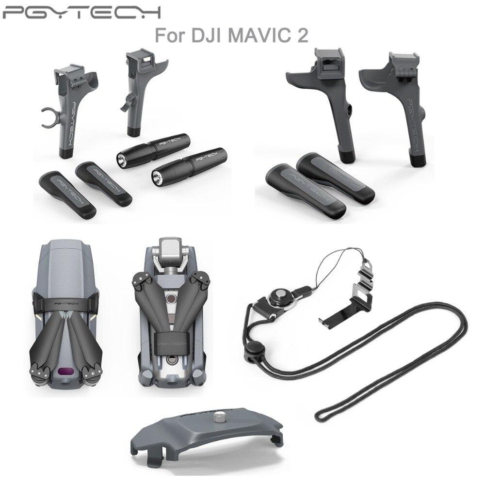 Para DJI Mavic 2 Pro PGYTECH Landing Gear Extension/Propellers Motor Holder Fixator/Control Remoto Screen Guard Neck Lanyard