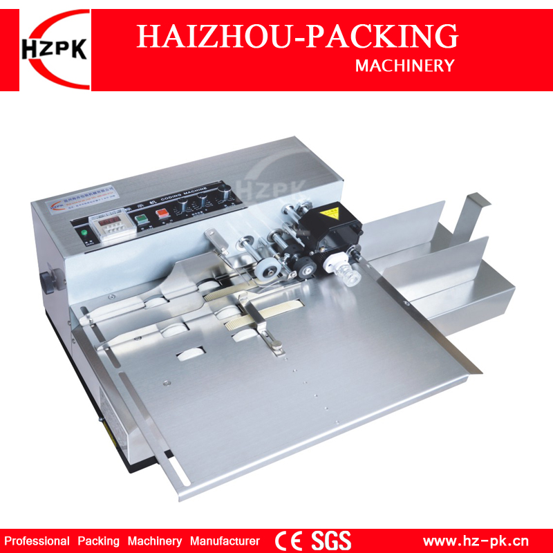 HZPK Stainless Steel Shell Wide Type Solid Ink Roller Coding Machine Box Bag Date Code Printing