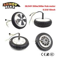 Hub motor electric balance car motor wheel electric scooter solid/vacuum tire motor 36/54V 250w/300w Hub motor 6.5/8/10inch