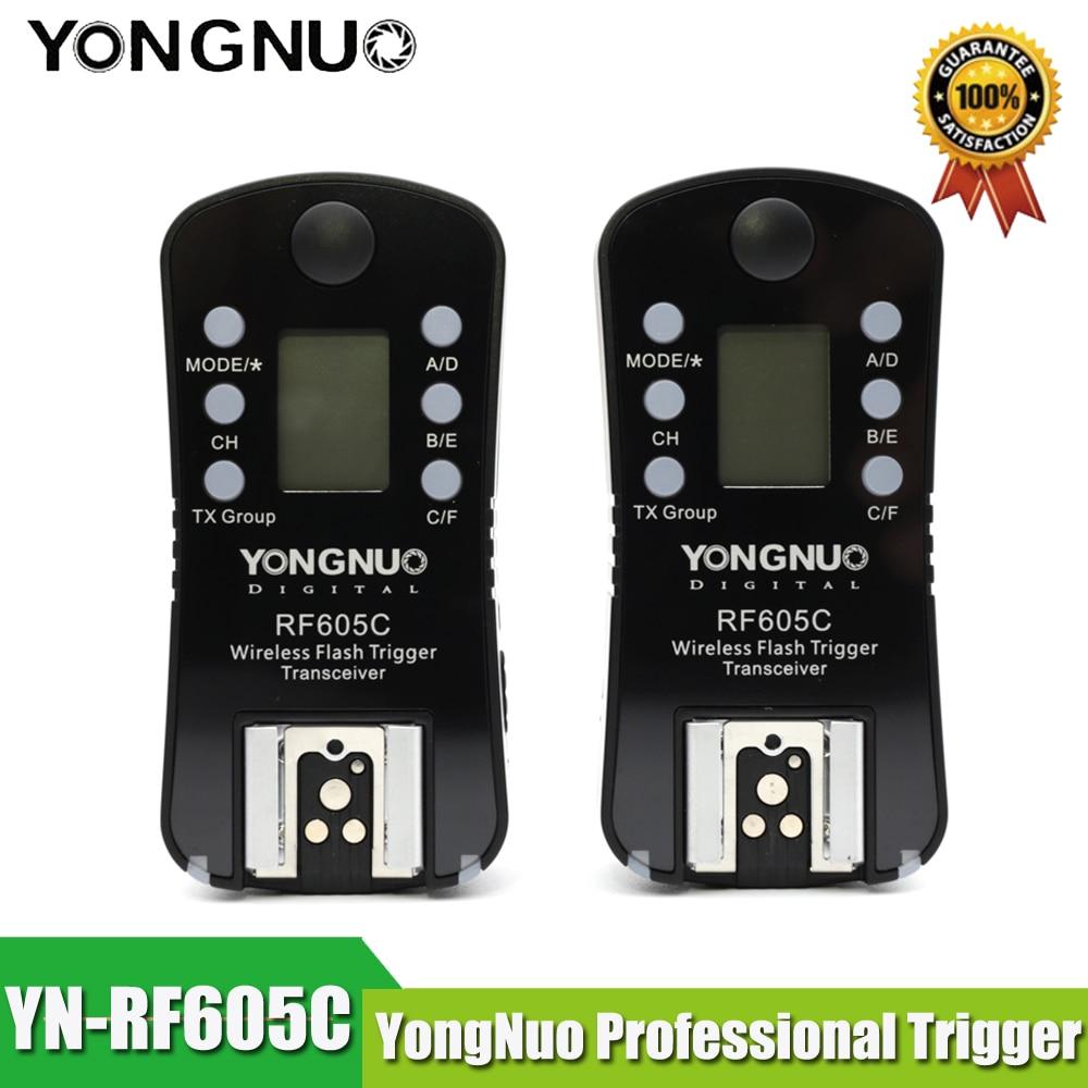 YONGNUO RF 605C Transceiver RF605C RF605 C YN 605C Wireless Flash Trigger for Canon for RF