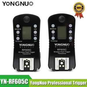 Image 2 - YONGNUO RF 605C Transceiver RF605C RF605 C YN 605C Wireless Flash Trigger for Canon for RF 602 RF 603 RF 603II and YN 560TX