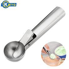 KMYC из нержавеющей стали совок для мороженного с триггером фрукты экскаватор ложка круглая формочка для мороженого Сферическая форма инструмент для земляных работ Кухонные гаджеты
