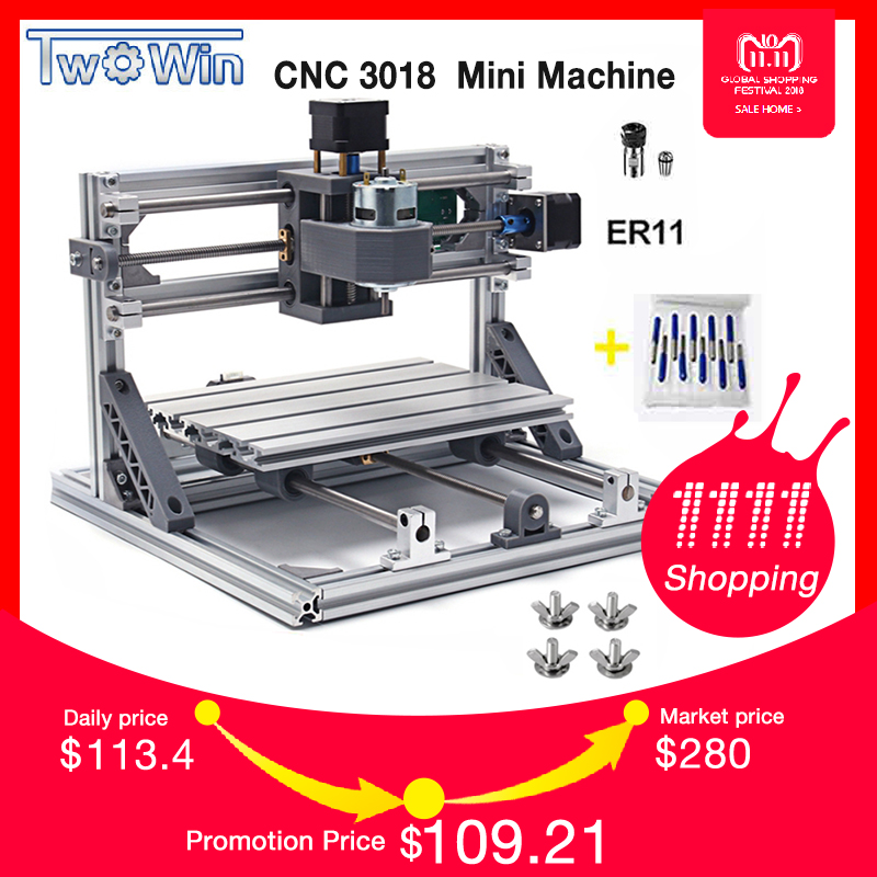CNC Router DIY 3018 ER11 GRBL Control Diy CNC machine,3 Axis PCB Milling Machine,Wood Router Laser Engraving cnc 3040 cnc router cnc machine 3 4 5 axis mini engraving machine woodworking tools diy hy 3040 high quality metal acrylic