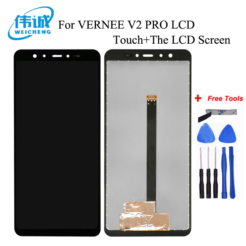"WEICHENG For VERNEE V2 PRO LCD Display + TP Touch Screen Digitizer Assembly Lcds 5.99"" For Vernee V2Pro Mobile Phone"