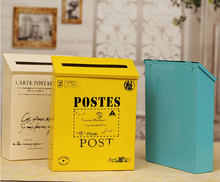 Caixa de correio de metal do vintage decoração do jardim caixa de correio caixa de carta de metal