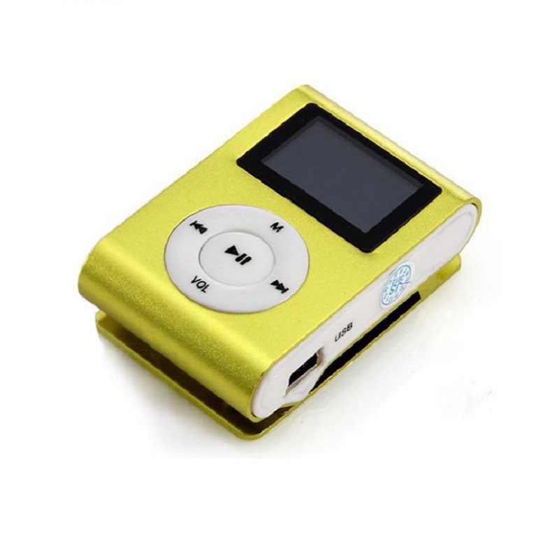 2019 Top venta moda Mini mp3 USB Clip MP3 reproductor de pantalla LCD soporte 32GB Micro SD TF tarjeta diseño elegante deporte compacto