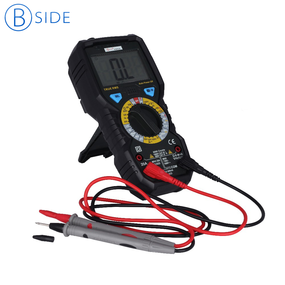 6000 Counts True RMS Digital Multimeter BSIDE ADM08A Auto Range LCD Display Multimeter With Capacitance Frequency Diode NCV Test bside auto range digital clamp meter 6000 counts dc ac 600a 600v resistance capacitance frequency temperature ncv multimeter