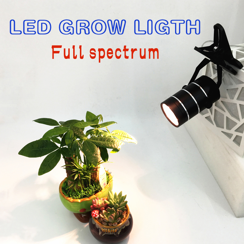 7W LED Full spectrum Plant Grow Light with Clip, 360 Degree Adjustable for Plants,Office, Home, Indoor Garden Grow Plant Lights