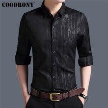 COODRONY Men Shirt Autumn New Arrival Long Sleeve Cotton Shirt Men Streetwear Fashion Slim Fit Business Casual Mnes Shirts 96004