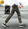Fashion 2016 Teenager Skinny Pencil Pants Men Stretch Camouflage Casual Hip Hop Army Military Student Harem Trousers 28-34