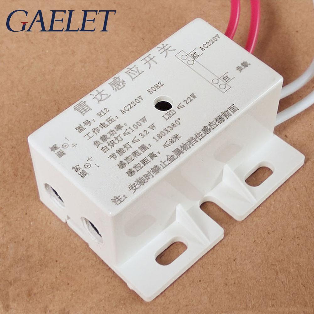 220 v Auto Infrared Sensor Switch Body Motion Sensor Microwave Radar Sensor PIR Sensor Switch