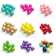 Wholesale 20mm 100pcs/bag Faceted Acrylic Imitation Pearl Chunky Beads