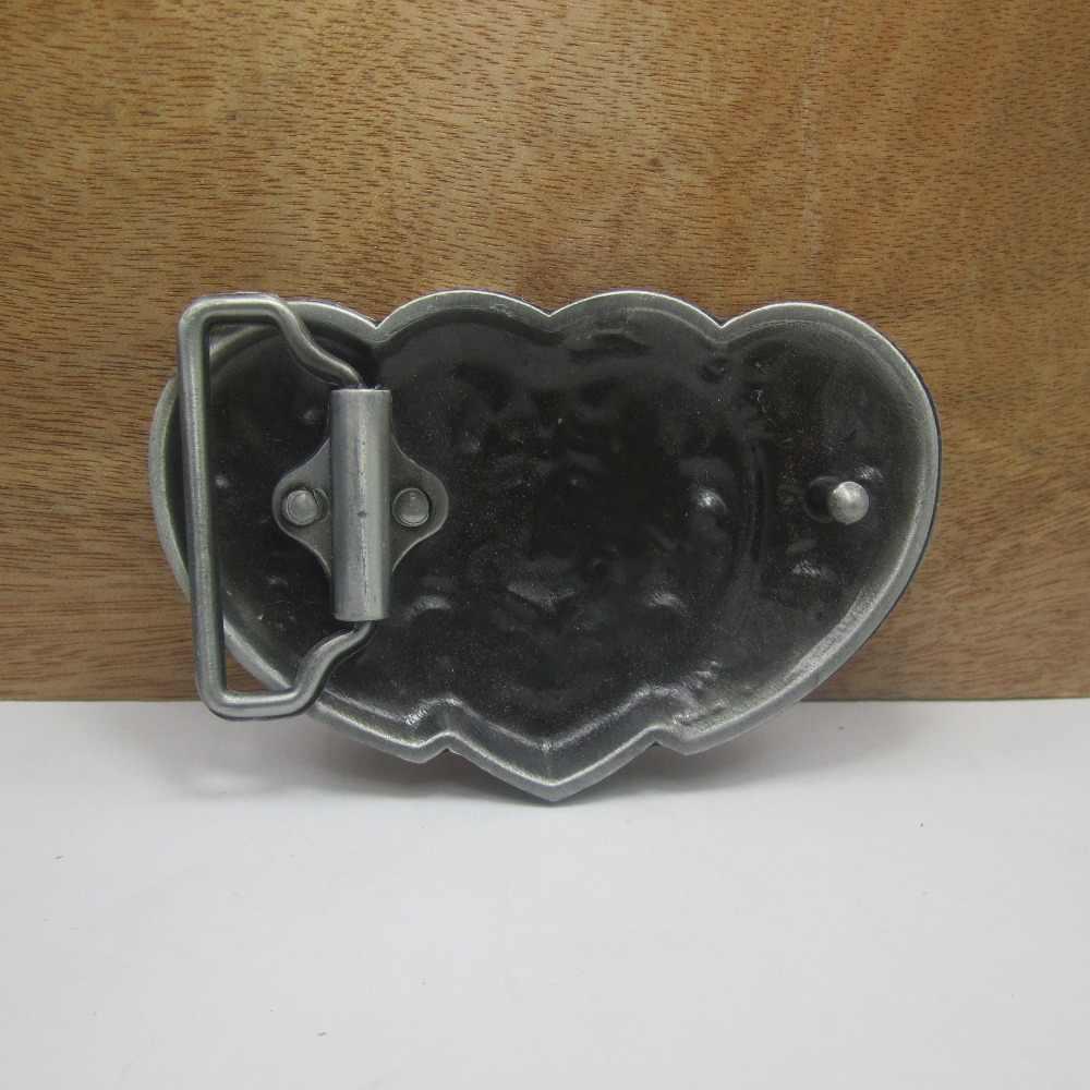 BuckleClub retro moda w kształcie serca w kształcie serca dżinsy prezent klamry pasa wykończeniem cyny FP-02580 dla mężczyzn 4 cm szerokość pętli drop shipping