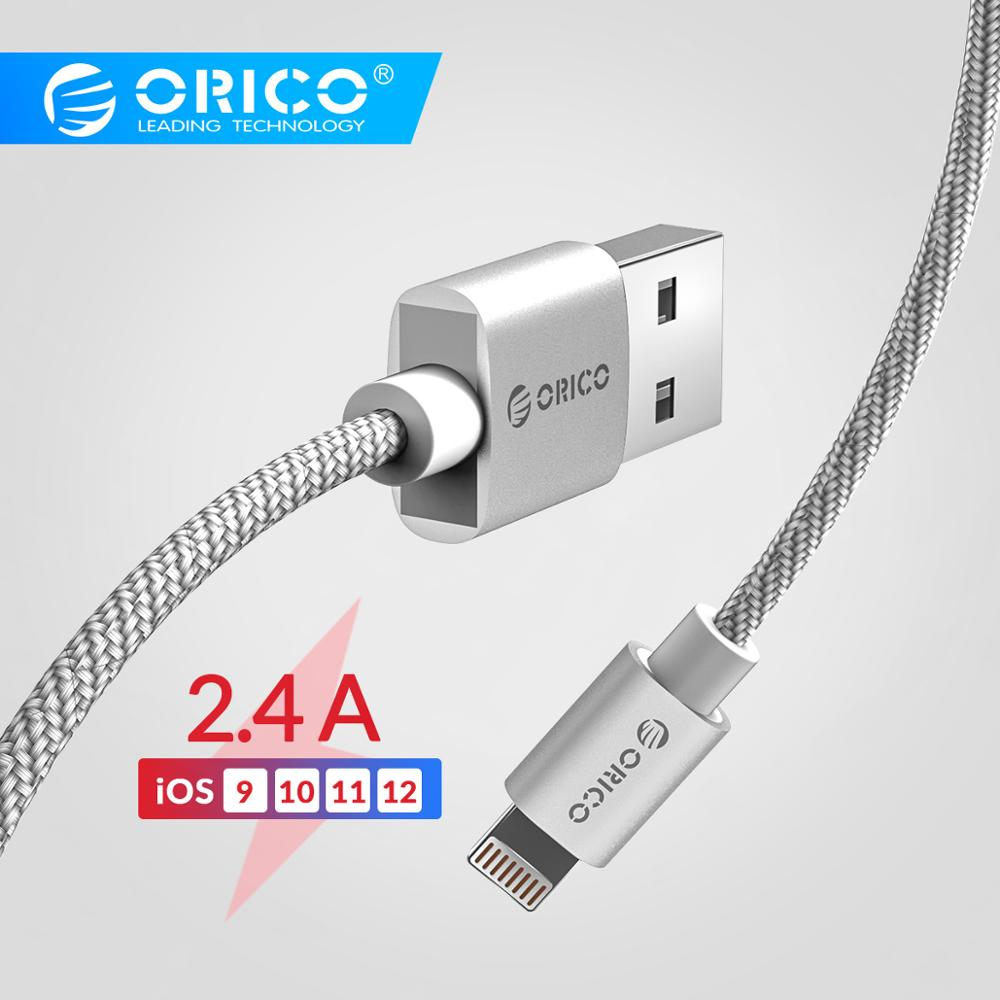Orico Fast Charging Data Cable For Iphone Ipad Mini Ipod Lighting To Usb Wire 1m 7 6s