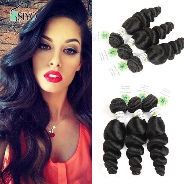 Siyo Indian Virgin Hair Loose Wave Weave Top Quality Human Hair