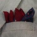 Alta Calidad 100% de la Moda de Lana Patrón de Paisley Pañuelo Pañuelo Pañuelo de Bolsillo de Lujo Con Caja de Regalo