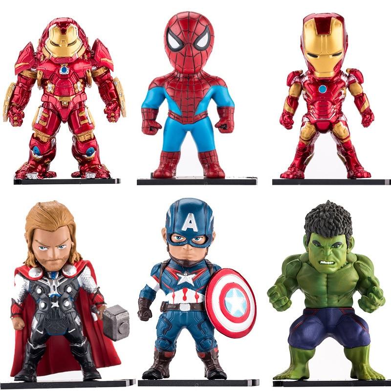 6pcs/set Superhero Avengers Infinity War Iron Man Hulk Captain America Thor Superman Action Figures Gift For Children's Toys #E avengers age of ultron hulk thor iron man captain america hawkeye black widow quicksilver pvc figure toys 8pcs set