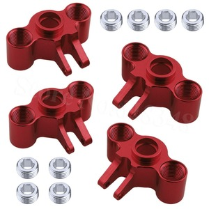 Image 1 - 4pcs Aluminum Axle Carriers Steering Knuckle Left & Right For Traxxas 1/16 Slash 4WD E Revo Summit VXL RC Car Hop Up Parts