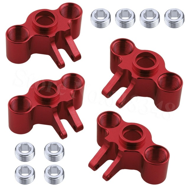 4pcs Aluminum Axle Carriers Steering Knuckle Left & Right For Traxxas 1/16 Slash 4WD E Revo Summit VXL RC Car Hop Up Parts
